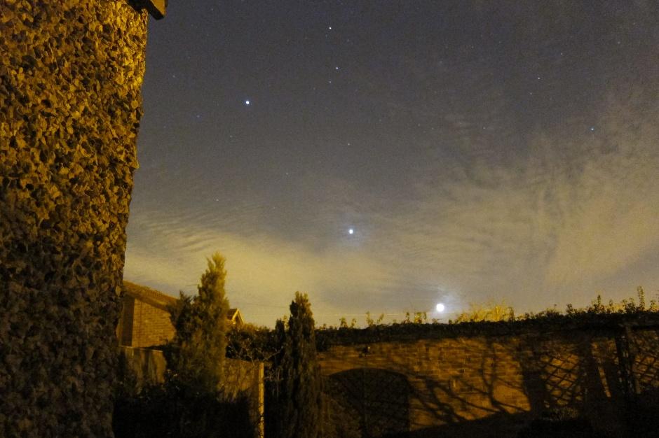Jupiter, Venus and the Moon